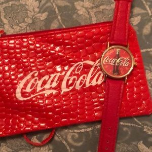 Coca Cola watch and small wristlet